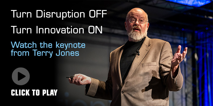 Disruption OFF / Innovation ON - Watch the Keynote from Terry Jones