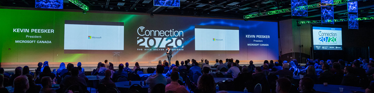 Kevin Peesker, President of Microsoft Canada delivers an Inspirational Summary Keynote