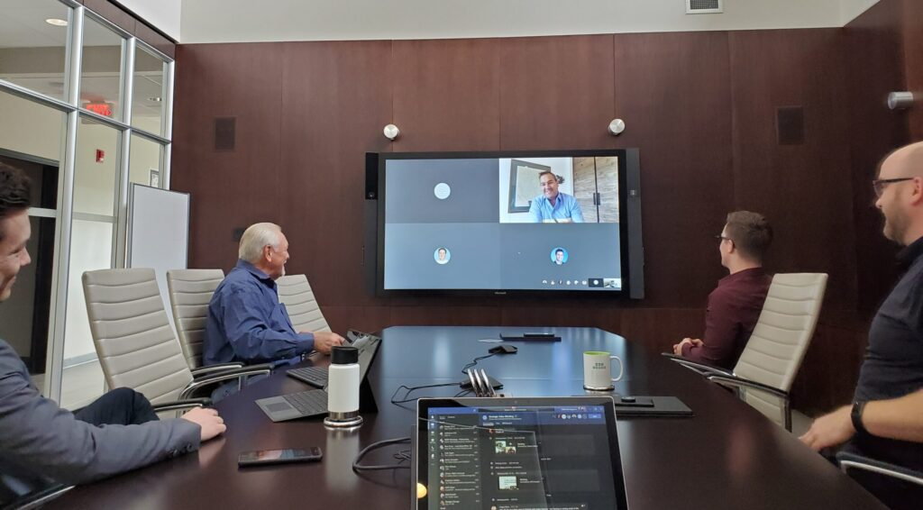 WBM'ers in a typical pre-covid boardroom meeting