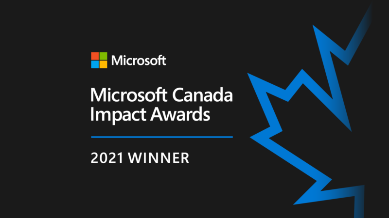 Microsoft Canada Recognizes WBM Technologies as Winner of the 2021 Surface Impact Award